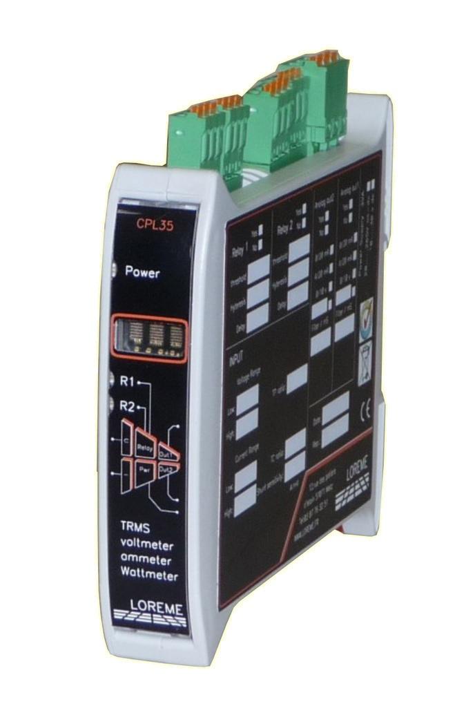 Dynatime Suisse - Convertisseurs industriels - Mesure et contrôle électrique AC/DC - CPL35
